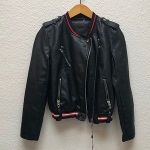 NWT Blank NYC sporty faux leather Moto jacket